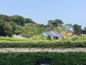 名護屋城跡登り口と石垣